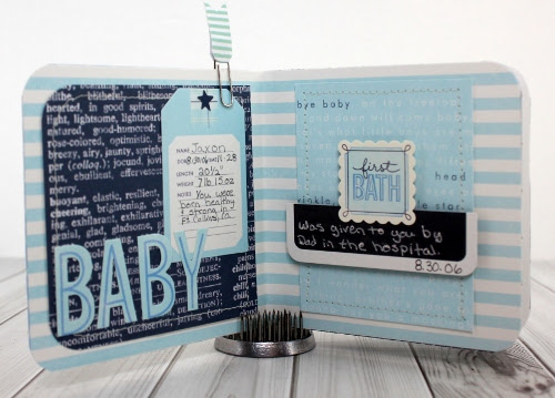 Baby Boy Mini Album Pebbles Inc