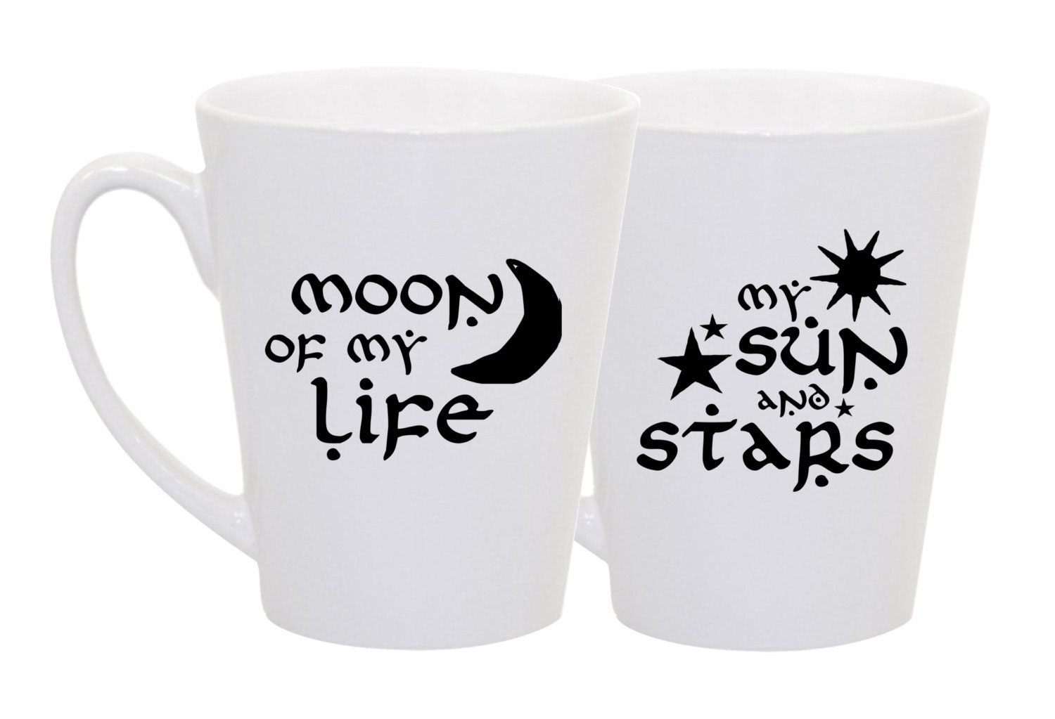 """Game of Thrones """"Moon of My Life"""" and """"My Sun and Stars""""- Set of 2 coffee mugs"""