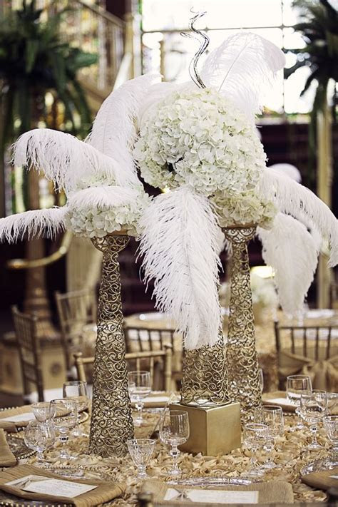 The Great Gatsby inspired centerpiece   Party Ideas