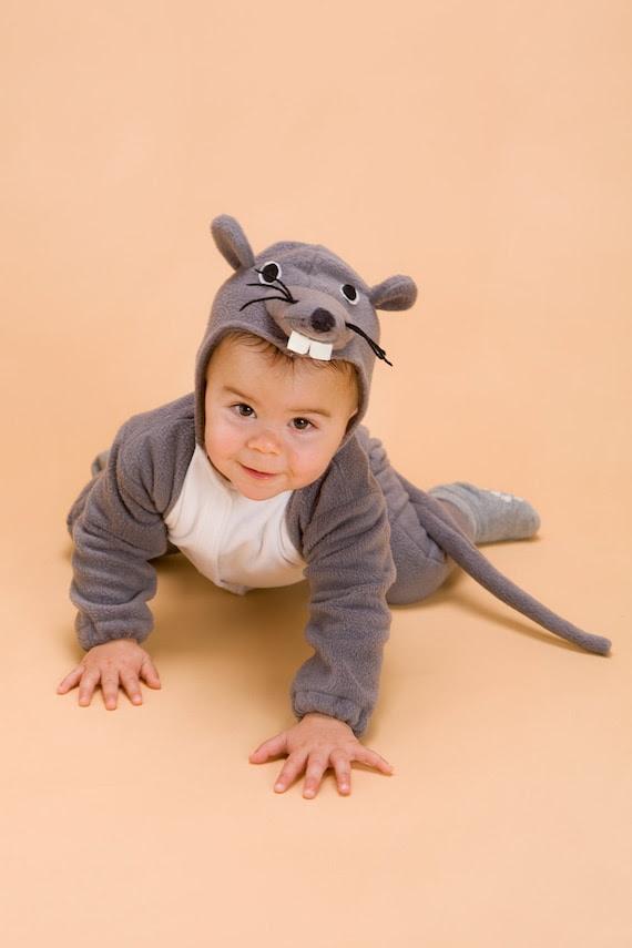 Halloween Handmade  Mouse Baby Costume, Toddler Costume, Kids Costume