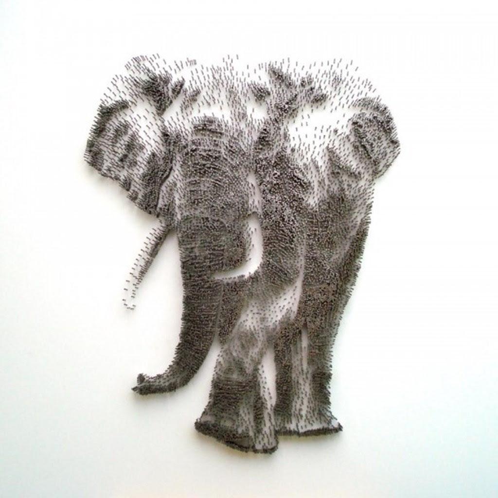Hammer Nail Pointillism Luxuo