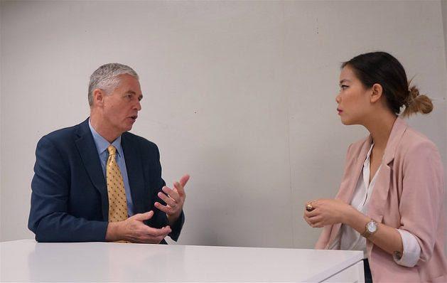 Sinsiri Tiwutanond Interviews the Director-General of the Global Green Growth Institute (GGGI) Dr. Frank Rijsberman in Bangkok. Credit: Sinsiri Tiwutanond/IPS