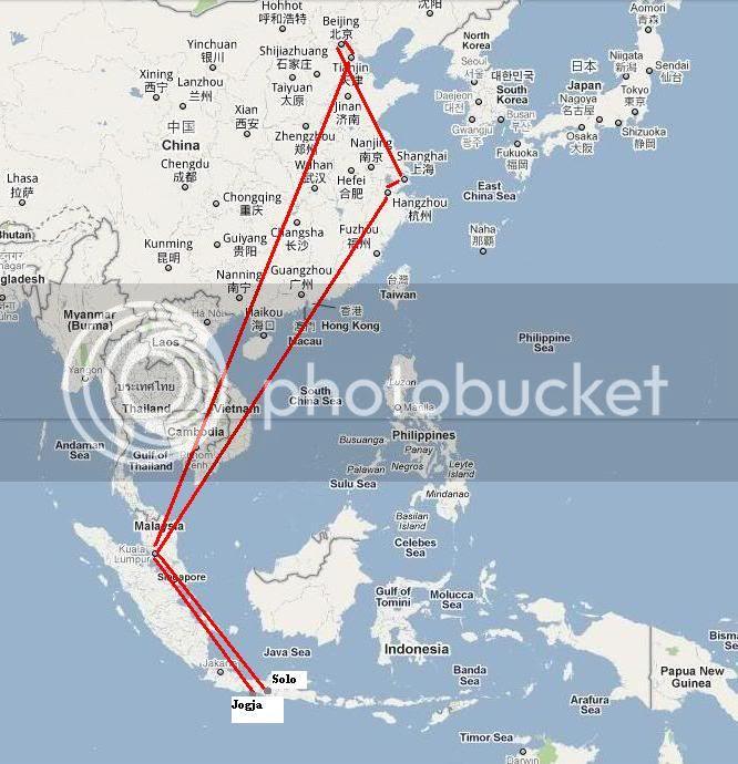 800 ribu-an ke Shanghai Beijing