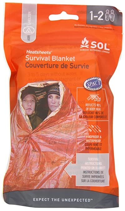Adventure Medical Kits Sol Survival Blanket, Two Person, 3.2 Ounce