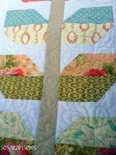 My love grows quilt stem detail