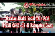 Gerakan Bhakti Sosial TNI-Polri Peduli, Kasat Lantas Polres Gowa Terjun Langsung Berbagi pada Warga