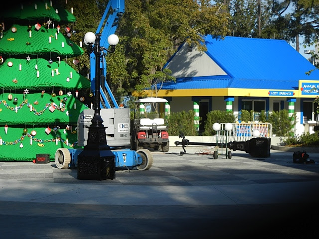 magiclannd snow machine at legoland theme park
