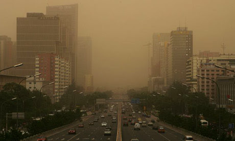 Beijing is shrouded with smog