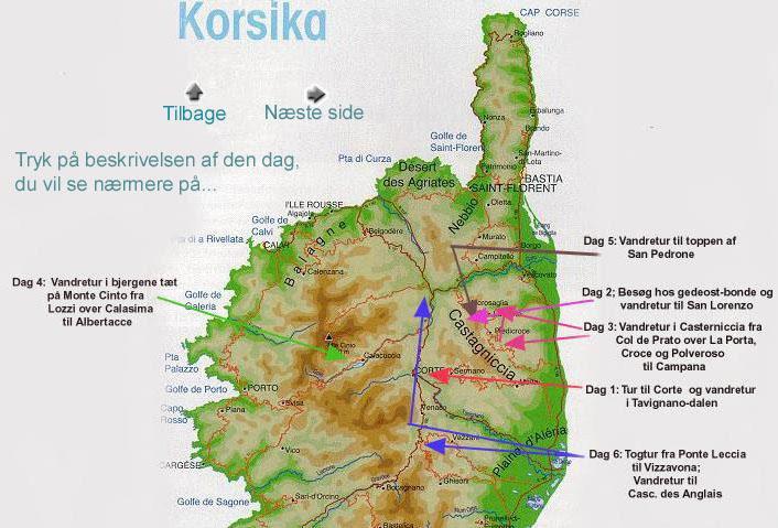 korsika kort Kort Over Korsika | Kort 2019