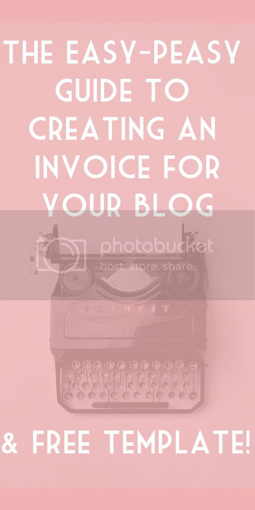 Creating an invoice for blog work