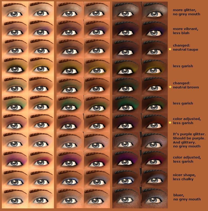 Base Game Eyeshadows