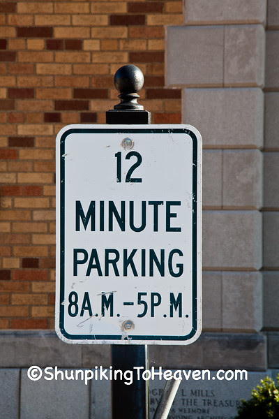 Parking Limit Sign at Post Office, Lawrenceville, Illinois