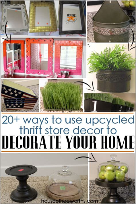 ways  upcycle thrift store decor  decorate