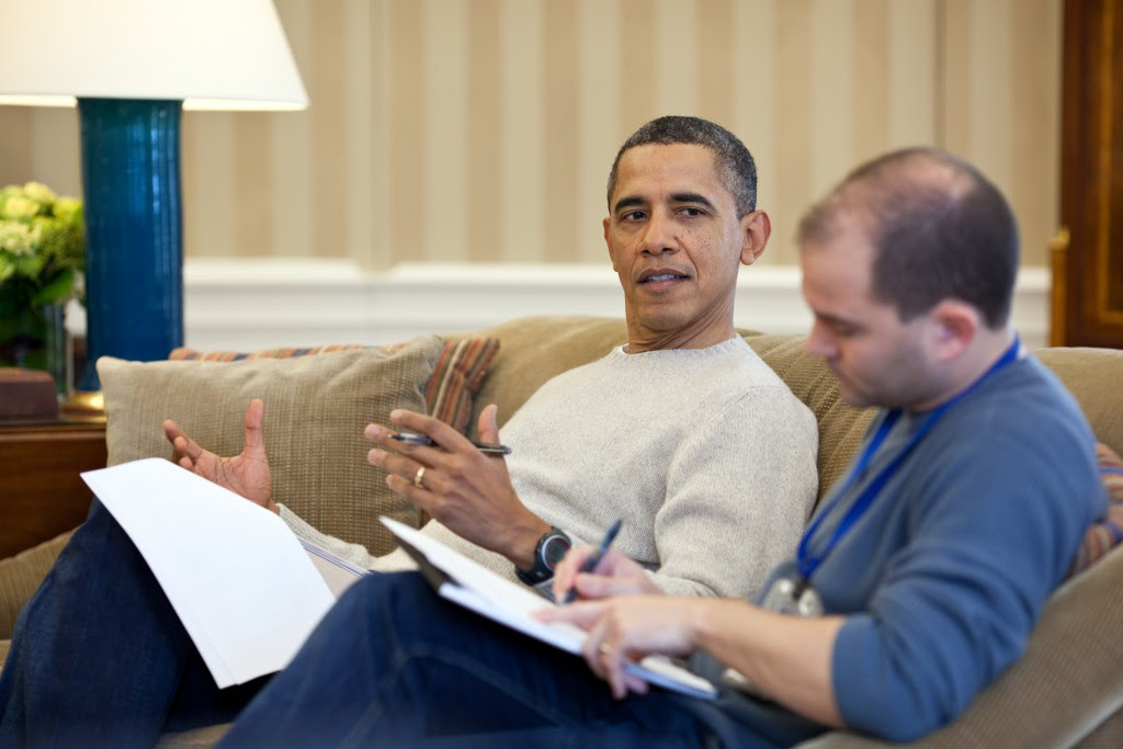 Obama and Rhodes, March 2012. Photo: Pete Souza / White House