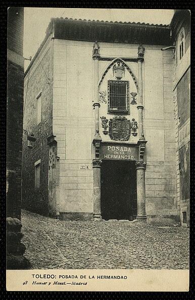 Posada de la Hermandad (Toledo) hacia 1913. Foto Hauser y Menet