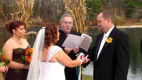 Foley Wedding Vows Handfasting Sand Ceremony   YouTube