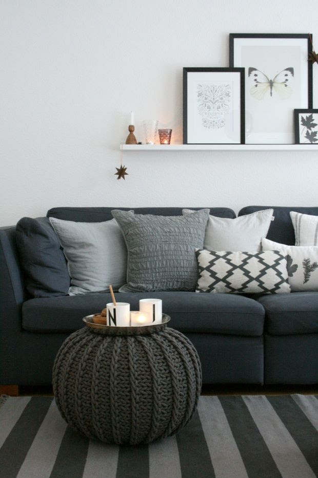 Decorating Ideas For Dark Grey Sofa
