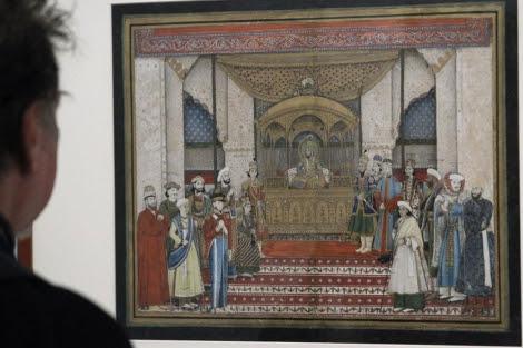 Cuadro que representa al Emperador Mogol Bahadur Shah II en Darbar.| Efe