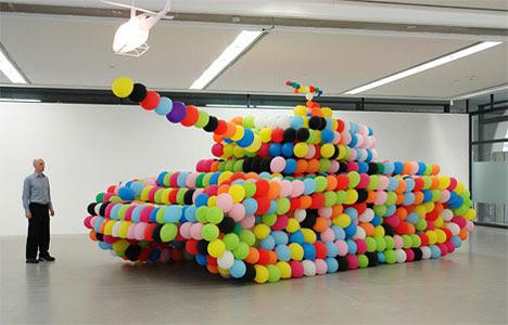 Tanque em balões