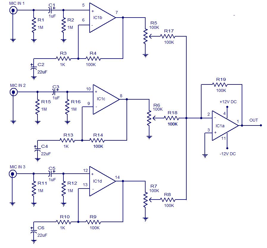 12v Preamp Circuit Daigram - Circuit Diagram Images