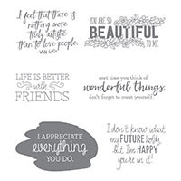Just Add Text Clear-Mount Stamp Set