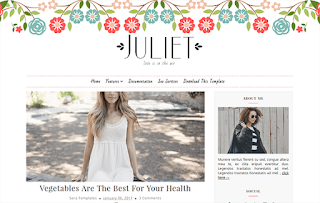 Juliet Minimal Blogger Template