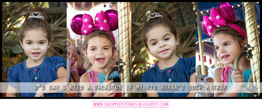 I'd say I need a vacation if my kid wasn't such a trip via Cropped Stories