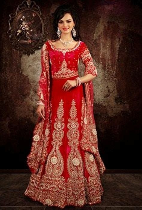 indian wedding dress 2 piece red   dweddingdress.com