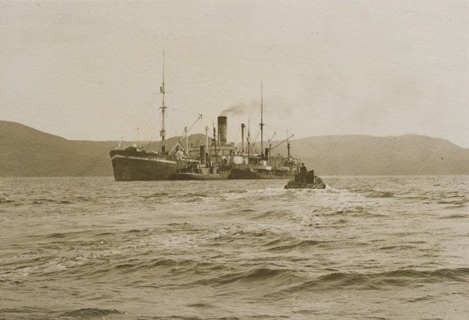 File:Whaling factory ship Sir James Clark Ross, Paterson Inlet, Stewart Island.jpg