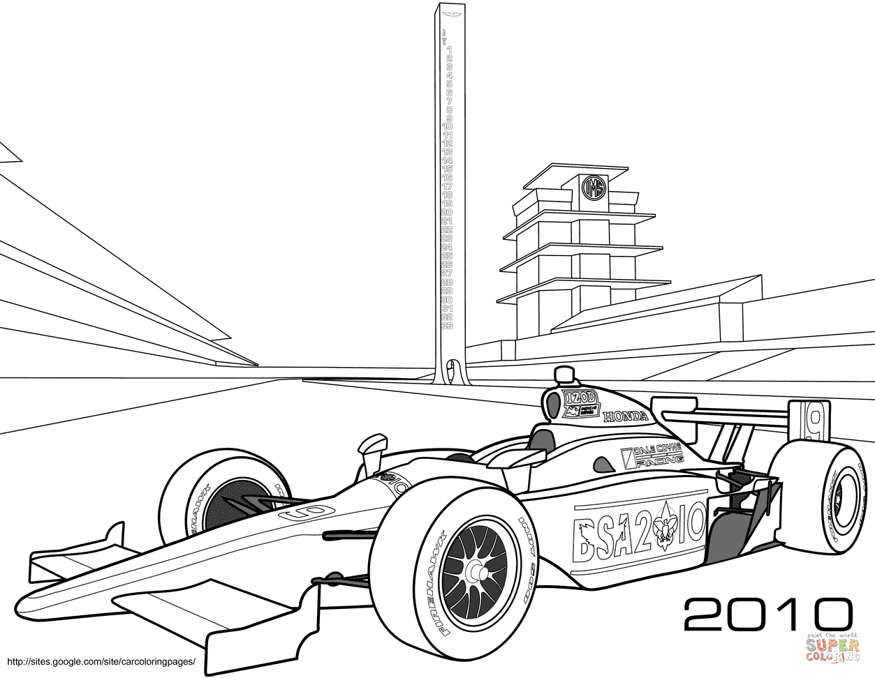 9300 Coloring Pages Of Race Cars For Free