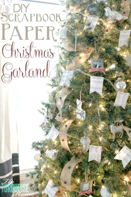 How to make a scrapbook paper Christmas garland