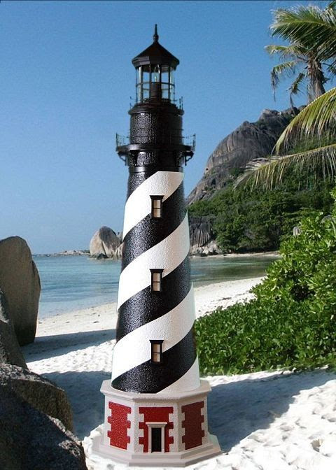 Buy Cape Hatteras Stucco Electric Lawn Lighthouse 60 ...