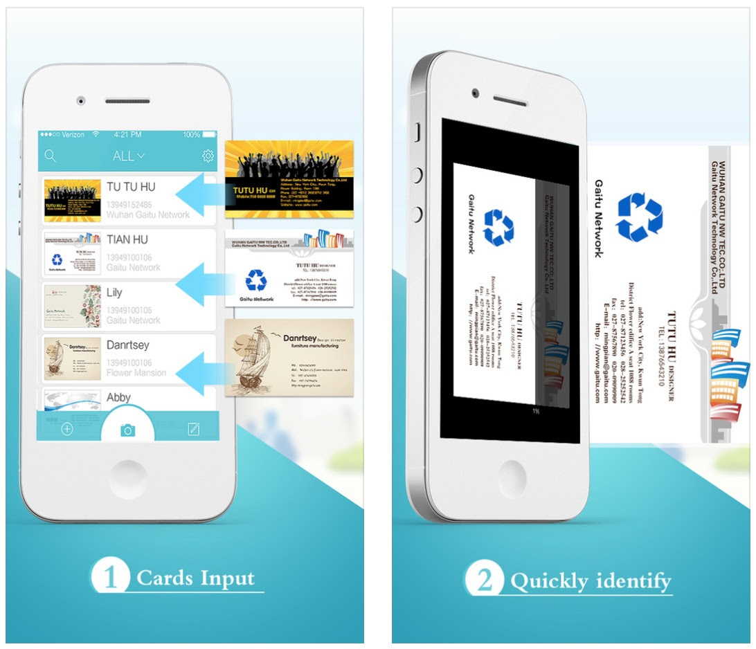 App For Business Cards Business Card Design