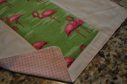 Serged Burp Cloth ~ front, back, and edge