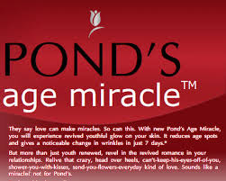 Free Ponds Age Miracle Cream Sample