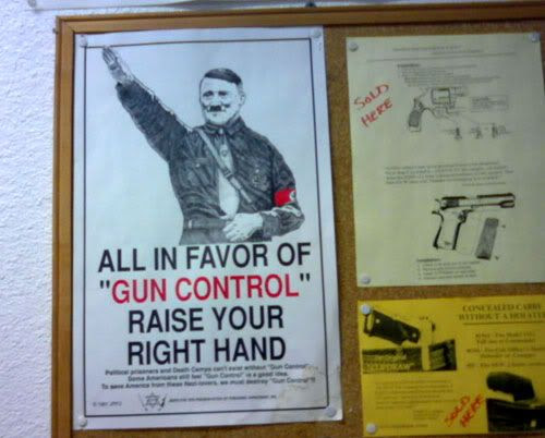 What an odd way to advocate gun control...