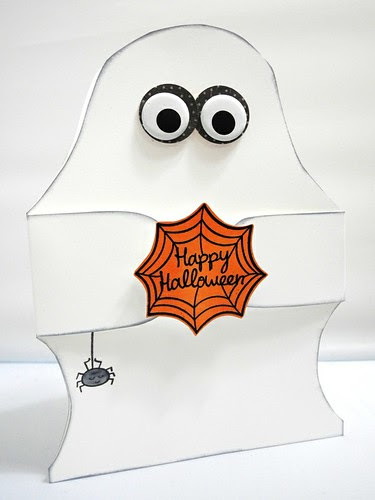 Happy Halloween Ghost Shaped Card