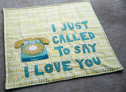 """I Just Called to Say, """"I Love You"""" Wall-Hanging"""