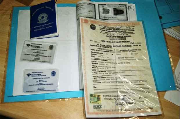 Funcionários do INSS desconfiaram dos documentos apresentados e acionaram a Polícia Federal. Foto; PF/ Divulgação