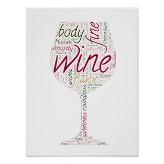 Wine World Words II Poster