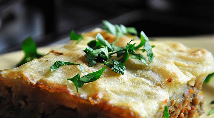 Πίτα χορτοφάγος Μανιτάρι ποιμένα