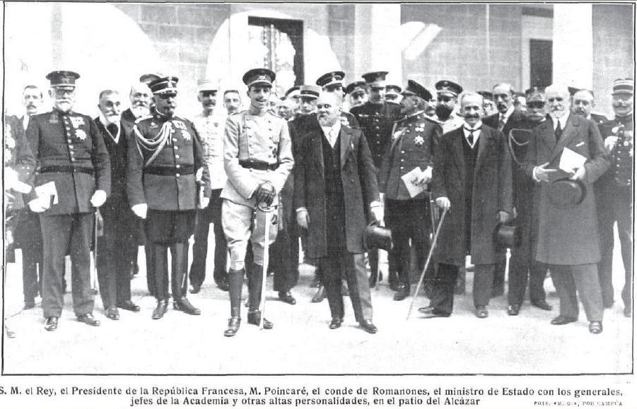 Raymond Poincaré y Alfonso XIII en Toledo en 1913. Revista Mundo Gráfico
