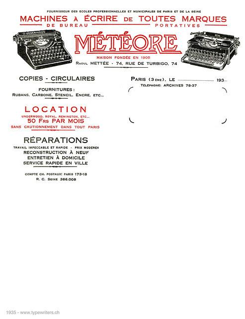 letterhead_meteore_1935