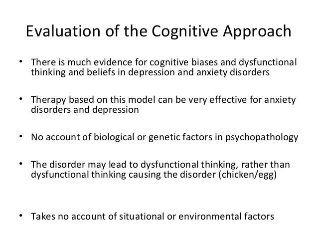 Cognitive approach to abnormality AS