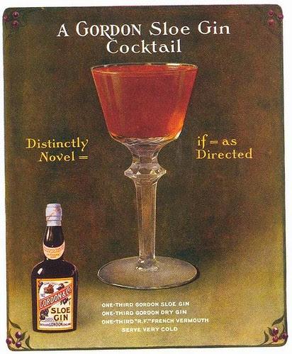Gordon Sloe Gin ad, 1914
