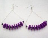 PURPLE SWING earrings