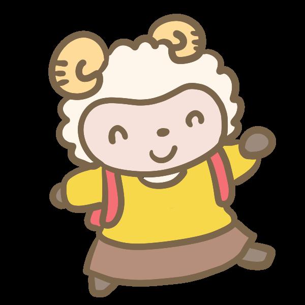 羊の小学生 女の子 のイラスト かわいいフリー素材が無料のイラストレイン