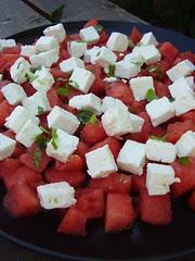 Melon & feta sallad