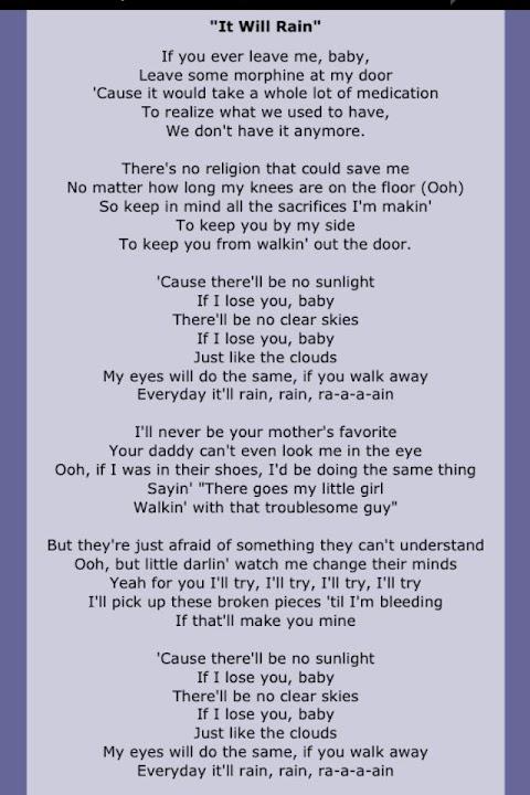 Bruno Mars If You Ever Leave Me Baby Lyrics