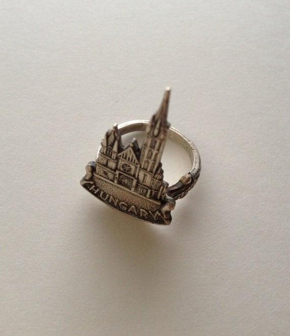 Hungary Church Charm Spoon Ring